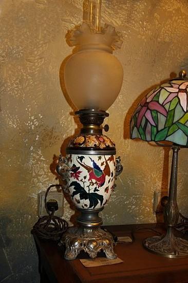 """Керосиновая лампа в стиле """"шинуазри"""""""