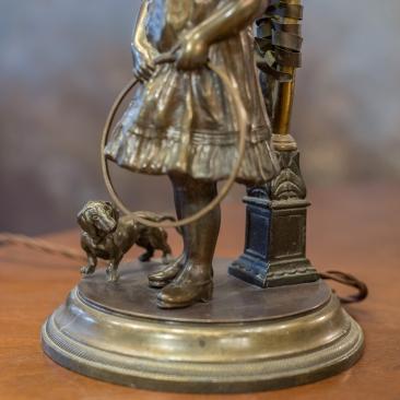 Настольная лампа из бронзы