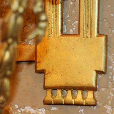 Антикварное бронзовое бра Людовик XVI