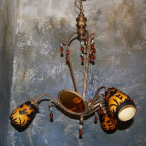 Люстра с плафонами в стиле Galle
