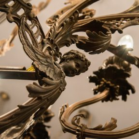 Старинный бронзовый светильник
