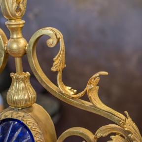Подвес бронзовый с кобальтовым стеклом