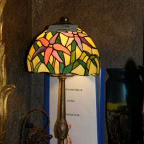 Старинная настольная лампа Тиффани