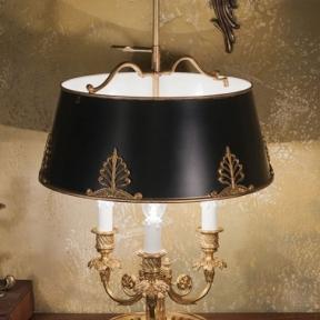 Настольная лампа с черным абажуром