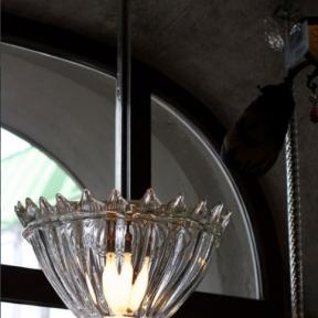 Потолочный светильник с прозрачным стеклом