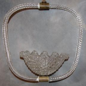 Оригинальный светильник из стекла