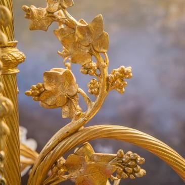 Антикварная бронзовая люстра