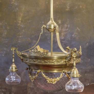 Антикварная люстра Стиль Людовик XVI