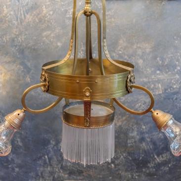 Антикварная люстра с палочками-подвесками с стиле модерн