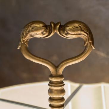 Винтажная напольная лампа из бронзы .