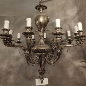 Винтажный подвесной светильник из бронзы