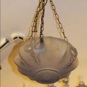 Компактный подвесной светильник с узором