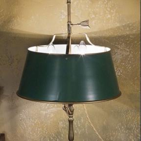 Настольная лампа-бульотка зеленая