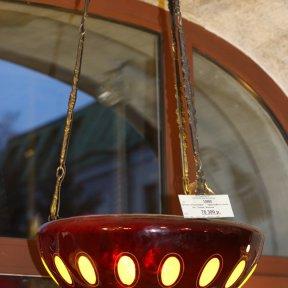 Старинная люстра из трехслойного стекла
